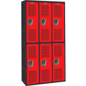 Hallowell AWA282-222MR Gym/PE Locker Double Tier 36x18x36 Assembled