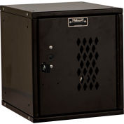 Hallowell HC121212-1DP-ME Cubix Modular Locker, Padlockable,12x12x12,Diamond Perforated Door, Ebony