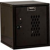 Hallowell HC121212-1DP-ME Cubix Modular Locker, Padlockable,12x12x12,Diamond Perforated Door, Ebony