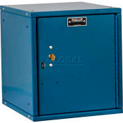 Hallowell HC121212-1PL-K-MB Cubix Modular Locker, w/built-in key lock, 12x12x12, Plain Door, Blue