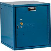 Hallowell HC121212-1PL-K-MB Cubix Modular Locker, w/built-in key lock, 12x12x12, Plain Door, Blue