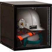 Hallowell HC121212 Cubix Modular Locker, w/built-in key lock, 12x12x12, Safety-View Door, Ebony