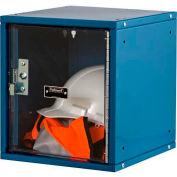 Hallowell HC121212-1SVP-MB Cubix Modular Locker, Padlockable, 12x12x12, Safety-View Door Marine Blue