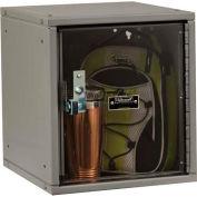 Hallowell HC121212-1SVP-PL Cubix Modular Locker, Padlockable, 12x12x12, Safety-View Door, Platinum