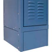"Hallowell KCSB12MB Steel Locker Accessory, Closed Side Base 12""D x 6""H Marine Blue"