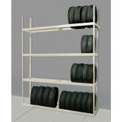 "Rivetwell Single Row Tire Storage Shelving 60""W x 21""D x 84""H 3 Levels Add-on Tan"