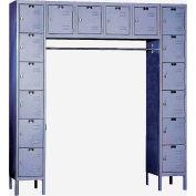 Hallowell U1788-16 Premium Locker 16 Person 12x18x12 Ready To Assemble Gray