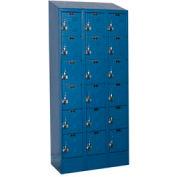 Hallowell URB3228-6ASB-MB Ready-Built II Locker Six Tier 3 Wide - 12x12x13-5/8 Blue