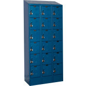 Hallowell URB3258-6ASB-MB Ready-Built II Locker Six Tier 3 Wide - 12x15x13-13/15 Blue