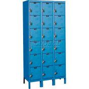 "Hallowell URB3258-6A-MB ReadyBuilt Locker, 36""W x 15""D x 13""H, Blue, 6 Tier, 3 Wide"