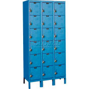 "Hallowell URB3288-6A-MB ReadyBuilt Locker, 36""W x 18""D x 13""H, Blue, 6 Tier, 3 Wide"