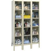 Hallowell USVP3256-5 Safety-View Plus Locker Five Tier 12x15x12 - 15 Doors Ready To Assemble - Tan