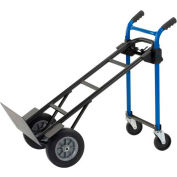 Harper™ DTC8635P 4-in-1 Convertible Heavy Duty Hand Truck - Solid Rubber Wheels - 900 Lb. Cap
