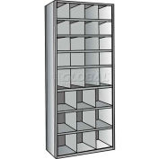 "Hallowell 5531-18HG Hi-Tech Parts Bin Unit 36""W x 18""D x 87""H Gray Starter 29 Bins"
