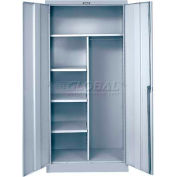 "Hallowell 855C18PL-AM Combination Cabinet, 36""W x 18""D x 78""H, Platinum, Knock-Down"