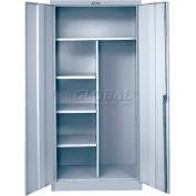 """Hallowell 855C24A-PL-AM Combination Cabinet, 36""""W x 24""""D x 78""""H, Platinum, Assembled"""