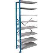"Hallowell H-Post High Capacity Shelving 48""W x 18""D x 123""H 8 Adj Shelves Open Style, Shelf Add-On"