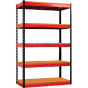 Hallowell FKR362478-5S-W-BR-HT Fort Knox Rivetwell Shelving Unit w/ Particle Board Deck, 36x24x78