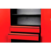 "Hallowell FKSCD36-2RR-HT Fort Knox Cabinet Drawer Kit - 2 Drawer, 36""W x 24""D x 15""H, Red"