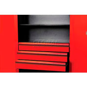 "Hallowell FKSCD48-3RR-HT Fort Knox Cabinet Drawer Kit - 3 Drawer, 48""W x 24""D x 18""H, Red"