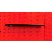 """Hallowell FKWPS24ME-HT Fort Knox Pedestal Shelf, 24""""W x 8""""D x 3/4""""H, Black"""