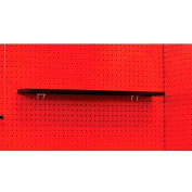 "Hallowell FKWS36ME-HT Fort Knox Pegboard Shelf, 36""W x 5""D x 3/4""H, Black"