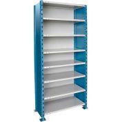 "Hallowell H-Post High Capacity Shelving 48""W x 18""D x 123""H 8 Adj Shelves Closed Style-Shelf Starter"