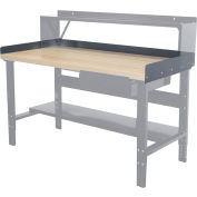 "Hallowell Workbench Back & End Stop Kit, 72""W x 36""D x 6""H"