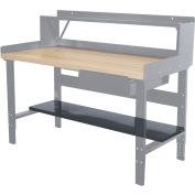 "Hallowell Workbench Lower Shelf, 60""W x 12""D"