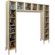 Hallowell UESVP1788 Safety-View Plus Locker w/DigiTech Lock 12x18x12 16-Person Parchment Unassembled