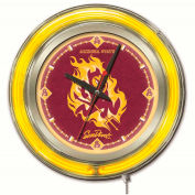 "Arizona State University Double Neon Ring 15"" Dia. Logo Clock"