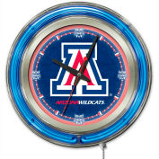 "University of Arizona Double Neon Ring 15"" Dia. Logo Clock"