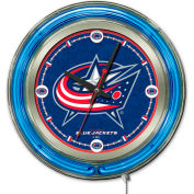 "Columbus Blue Jackets® Double Neon Ring 15"" Dia. Logo Clock"