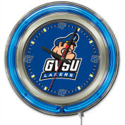 "Grand Valley State University Double Neon Ring 15"" Dia. Logo Clock"