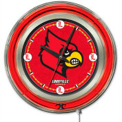 "University of Louisville Double Neon Ring 15"" Dia. Logo Clock"