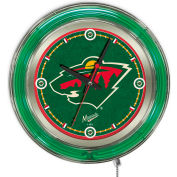 "Minnesota Wild® Double Neon Ring 15"" Dia. Logo Clock"