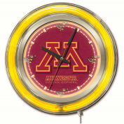 "University of Minnesota Double Neon Ring 15"" Dia. Logo Clock"