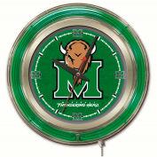 """Marshall University Double Neon Ring 15"""" Dia. Logo Clock"""