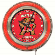 "University of Maryland Double Neon Ring 15"" Dia. Logo Clock"