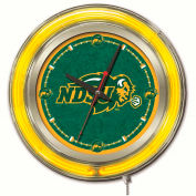 "North Dakota State University Double Neon Ring 15"" Dia. Logo Clock"