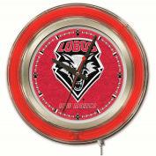 "University of New Mexico Double Neon Ring 15"" Dia. Logo Clock"