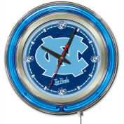 "University of North Carolina Double Neon Ring 15"" Dia. Logo Clock"