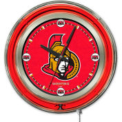 "Ottawa Senators® Double Neon Ring 15"" Dia. Logo Clock"