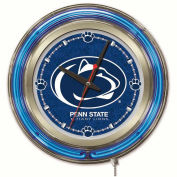 "Pennsylvania State University Double Neon Ring 15"" Dia. Logo Clock"