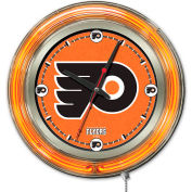 "Philadelphia Flyers® Double Neon Ring 15"" Dia. Logo Clock"