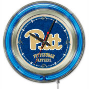 "University of Pittsburgh Double Neon Ring 15"" Dia. Logo Clock"