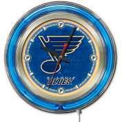 "St Louis Blues® Double Neon Ring 15"" Dia. Logo Clock"