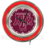 "Texas A&M Double Neon Ring 15"" Dia. Logo Clock"