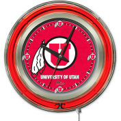 "University of Utah Double Neon Ring 15"" Dia. Logo Clock"