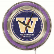 "University of Washington Double Neon Ring 15"" Dia. Logo Clock"
